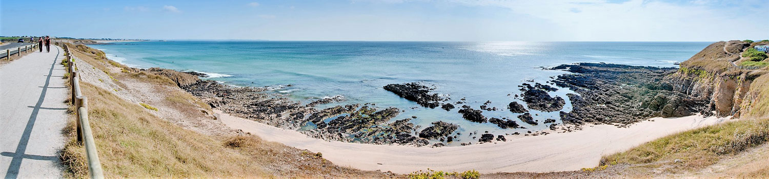 paysage plage guidel camping